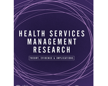 New article published in Health Services Management Research