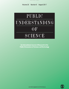 New publication in Public Understanding of Science